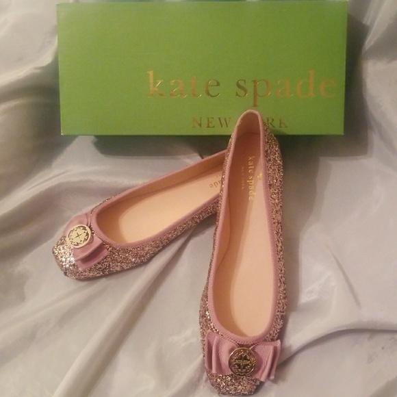 da55333a8b17 Kate Spade pink glitter ballet flats size 9
